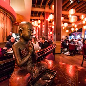 Buddah statue at Molly Woo's